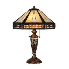 """26.5"""" H Diamond Band Mission Table Lamp"""