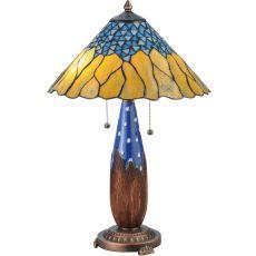 "24.5"" H Cristal Azul Table Lamp"