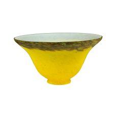 "7.5"" W Yellow/Purple Pate-De-Verre Bell Shade"