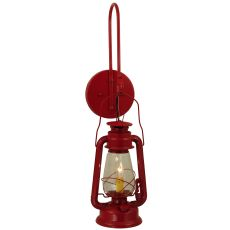"""7"""" W Miner'S Lantern Red Wall Sconce"""
