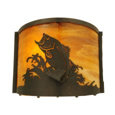 "11.25"" W Leaping Bass Wall Sconce"