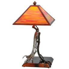 "25"" H Eagle Claw Kickstand Custom Table Lamp"