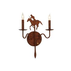 """14"""" W Brave'S Run 2 Lt Wall Sconce"""