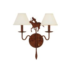 "18"" W Brave'S Run 2 Lt Wall Sconce"