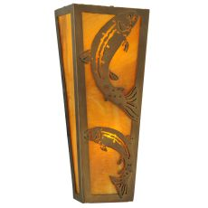 """5"""" W Leaping Trout Wall Sconce"""