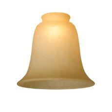 "5.5"" W X 4.75"" H Bell Carmel Speck Shade"