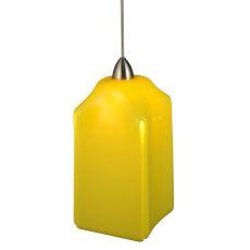 """4"""" Sq Metro Fusion Lemon Draped Mini Pendant"""
