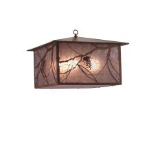 "24"" Sq Whispering Pines Lantern Pendant"