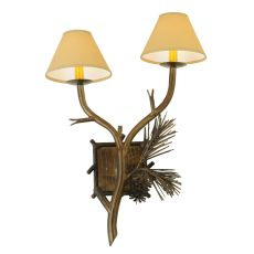 """27"""" H Lone Pine 2 Lt Wall Sconce"""
