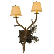 """26"""" H Lone Pine 2 Lt Wall Sconce"""
