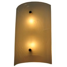 """9"""" W Metro Fusion Dragonfly Glass Wall Sconce"""
