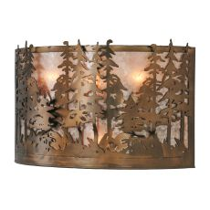 "20"" W Tall Pines Wall Sconce"