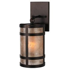 """5"""" W Black Dog Hanging Wall Sconce"""