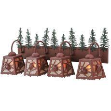 "35"" W Spruce Pine 4 Lt Vanity Light"
