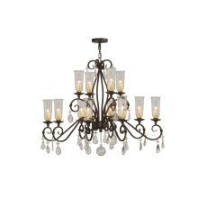 "48"" W Zola 12 Lt Two Tier Chandelier"