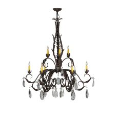 """38.5"""" W New Country French 9 Lt Chandelier"""