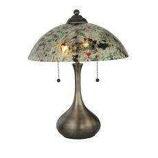 """21"""" H Metro Fusion Confetti Glass Table Lamp"""
