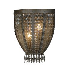 """16.5"""" W Chrisanne W/Crystals Wall Sconce"""