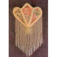 "11"" H Fabric & Fringe Floral Night Light"