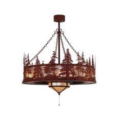 "44"" W Tall Pines W/Fan Light Chandel-Air"