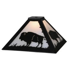 "12"" Sq Buffalo Shade"