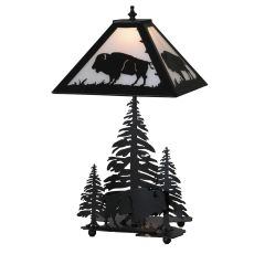 "21"" H Buffalo W/Lighted Base Table Lamp"