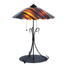 "28"" H Metro Fusion Marina Glass Table Lamp"