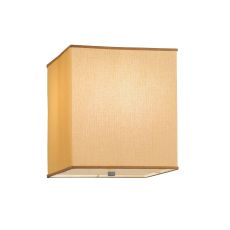 "18"" Sq Quadrato Honey Bombay Fabric Dimmable Flushmount"