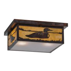 "14"" Sq Hyde Park Loon Flushmount"