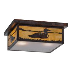 "16"" Sq Hyde Park Loon Flushmount"
