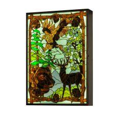 "26"" W Wilderness Led Backlit Window Box"