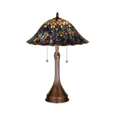 """22"""" H Tiffany Peacock Feather Table Lamp"""