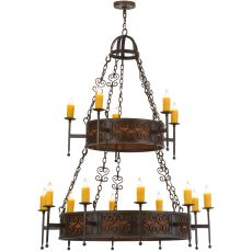 "48"" W Toscano 15 Lt Two Tier Chandelier"