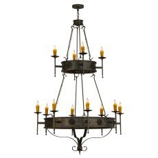 "48"" W Lorenzo 12 Lt Two Tier Chandelier"