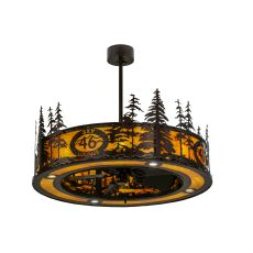 """45"""" W Tall Pines Custom Logo Up And Downlight Led Chandel-Air"""