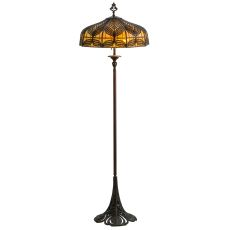 "63"" H Original Handel Peacock Floor Lamp"