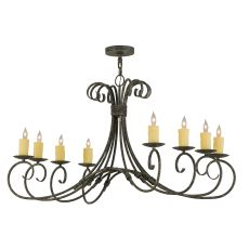 "48"" L Elon 8 Lt Oblong Chandelier"