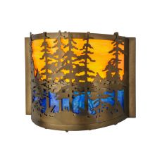 "11.5"" W Tall Pines Wall Sconce"