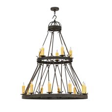 "48"" W Lakeshore 15 Lt Two Tier Chandelier"