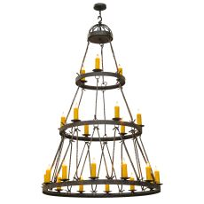 "54"" W Lakeshore 21 Lt Three Tier Chandelier"