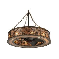 """44"""" W Whispering Pines Custom Logo Up And Downlight Chandel-Air"""