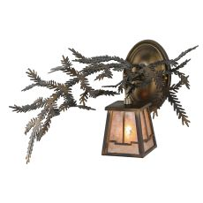"""16"""" W Pine Branch Valley View Wall Sconce"""