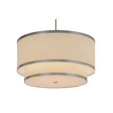 "30"" W Cilindro Eggshell 2 Tier Textrene Pendant"