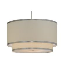 "36"" W Cilindro Eggshell 2 Tier Textrene Pendant"