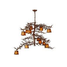"48"" W Pine Branch 12 Lt Chandelier"