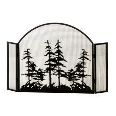 """50"""" W X 34"""" H Tall Pines Arched Fireplace Screen"""