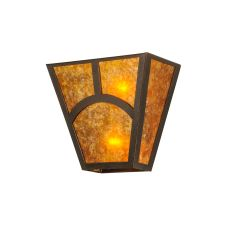 "13"" W Mission Hill Top Wall Sconce"