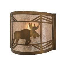 """11"""" W Lone Moose Wall Sconce"""