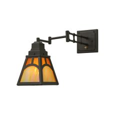 "6-13"" W Mission Hill Top Swing Arm Wall Sconce"