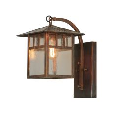 """9"""" W Seneca Double Bar Mission Curved Arm Hanging Wall Sconce"""